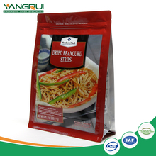 square bottom dried food pouch environmental friend zip foil bags laminated foil aluminum pouch