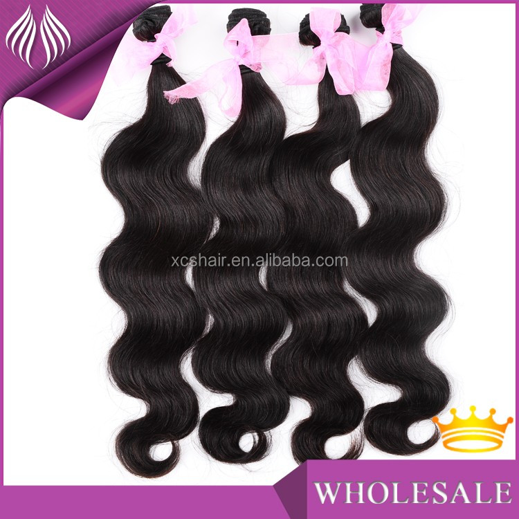 Wholesale Brazilian grade 7a virgin unprocessed weft remy human raw cambodian hair