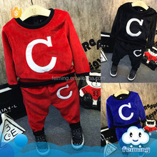 Children wear winter clothing warm cotton clothes set for kids clothing turkey