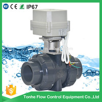 "CE RoSH 1 1/2"" inch motorized PVC electric actuator ball valve high quality"