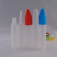PE 15ml Plastic Dropper Bottles With colorful Cap And Long Thin Tip 15 ml Unicorn Bottle For E-cig E-Liquid E Juice