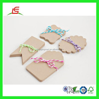 Q934 Recycled Custom Kraft Paper Tags, Tags Cards, Scrapbooking, Thank You Tags