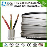 twin and earth cable solid copper conductor SAA approved copper PVC Flat TPS cable
