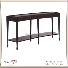long narrow curved classic console table for sale