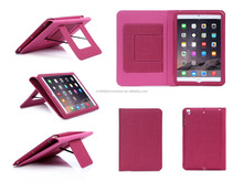 PU+Canva Material Built-in Standing And flip Tablet Case For ipad mini 3