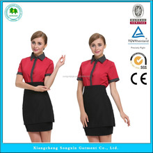New Stytle chinese waitress uniform,waiter and waitress uniform design,waitress uniform dresses