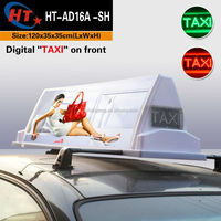Advertising led display taxi car top sign