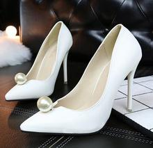 Korea new hot style popular ladies high slimmer heeled shoes