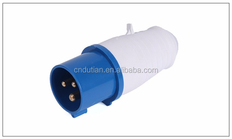 IP44 CEE/IEC international standard 3 pins electric plug