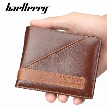 Baellerry Men Genuine Leather Vintage Wallet High Quality Trend Purses For Man