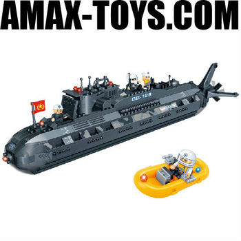 bd-0786201 building block set Military submarine plastics intelligent toys brick 502pcs