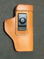Universal Concealed Carry Belt Genuine Leather Gun Holster for Glock 17, Springfield XD, Ruger SR9, Ruger P95