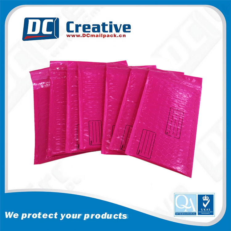 4x8 Inch Hot Pink ploy Water-proof Sturdy Bubble Mailers Self Seal Padded Envelopes