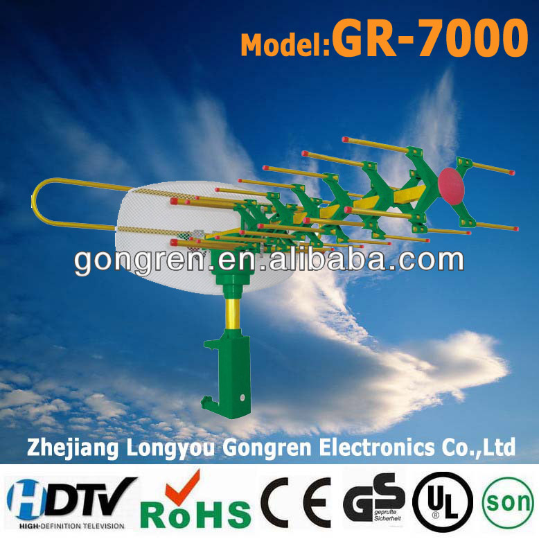 360 remote controlled rotatable GR-7000 TV antenna