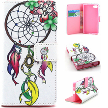 Book Style Customed Color Printed Flip Wallet Leather Cases For Sony Xperia Z5 Mini