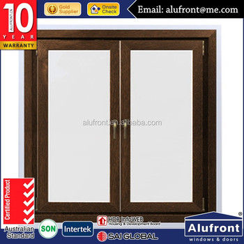 steel formwork frame with natural anodized aluminium window