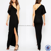 2015 hot sale sexy dresses for women high thigh split mother of the bride dress one shoulder evening dress