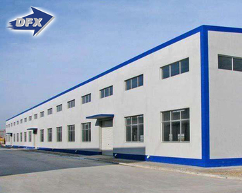 High Quality Double Slopes Prefabricated Steel Structure Frame Workshop