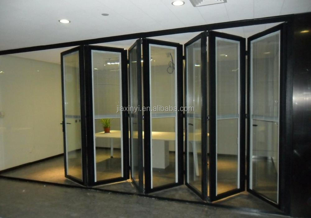 Aluminium Commercial Folding Door Double Glazed Aluminium