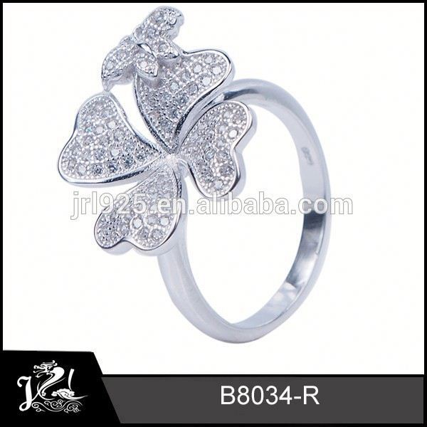 Fashion silver diamond cat eye bypass ring i 925 sterling silver turquoise jewelry wholesale