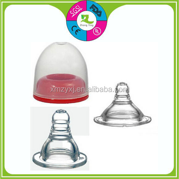 food grade silicone soother teat transparent custom baby bottle nipple