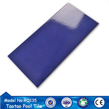 China factory 244x119 blue cheap tile for swimming pool tile prices
