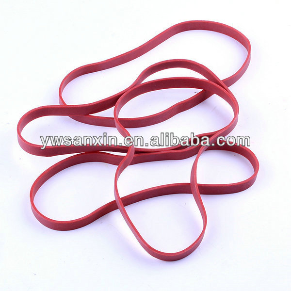 High quality red wide rubber band