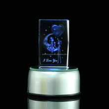 wedding gift crystal 3d laser engraving gift for Valentine's day