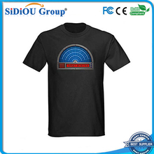 2014 wholesale el t-shirt sound activated flashing t shirt