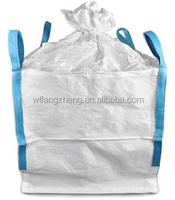 white bag waterproof plastic bag 100% PP raw material big bag 1 ton super sacks