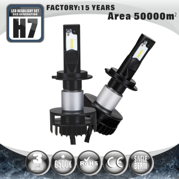 Tuff Plus 4400lm fanless single beam Car Auto LED Headlight Lamp Bulb H7