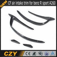 W176 RZ A260 A class carbon fiber air intake dashboard trim fit for benz R sport 2013 UP fits A260 sport bumper