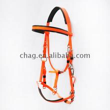 New Style flexible pvc horse bridle with halter endurance headstall for trail