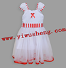 2015 hot sale girls party priness dresses red white stripe long dress The latest dress designs for sale