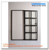 Made in China UPVC two panels sliding fiberglass bathroom door