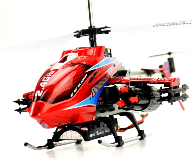 DFD F187 2.4G 3-channel rc helicopter with gyro & Missle rc helicopter 2.4G 3.5CH Alloy Missile Shooting RC Helicopter