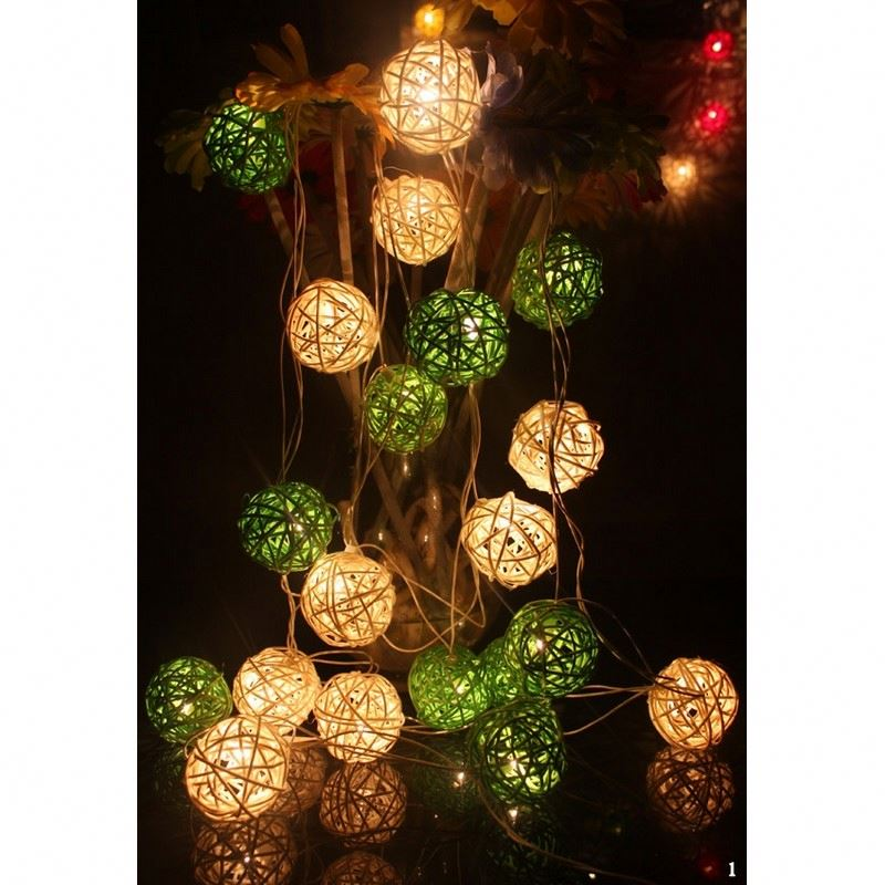 4M 30 Leds Christmas Lights Led String Lighting Cotton Ball String Lights New Year Wedding Outdoor Decoration Luces Decorativas