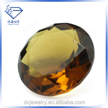 Dark champagne round raw cz stone synthetic diamonds new products for 2015