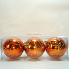 Popular plastic shiny orange christmas ornament balls