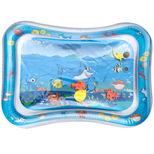 Summer baby water play mat cartoon design PVC playmat for tummy time