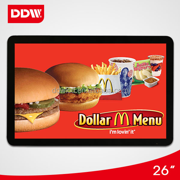 26 inch wall mount touch screen lcd advertising player display