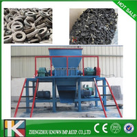 Large capacity used tire tyre rubber machine crusher automatic waste tire plastic recycling line
