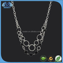 Alibaba Express In Spanish Stainless Steel Chain Latest Design Beads Necklace