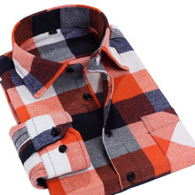 Men Casual Plaid Shirt Long Sleeve Slim Fit plus size Man Clothes Fashion Top Quality Brand Men's Shirts