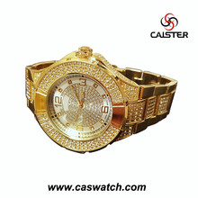Large face Hip Hop Bling Bling Watch, stainless steel strap men's watch, fancy quality shiny watch
