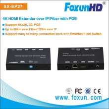 Fiber Extender Ultra HD 4K@30Hz- wide band IR 38khz-56khz with POE