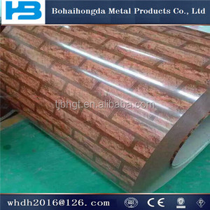 2016 best prices Brick grain ppgi roofing sheet/prepainted galvanized steel coil/ppgi made in china