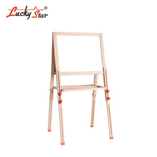 2-in-1 Kids Adjustable Erasable Magnetic Black / White Wooden Art Easel Drawing Board Stand in Wood