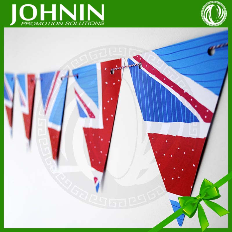 Wholesale Hard Paper Pennant Festival Event String Flags DIY Bunting