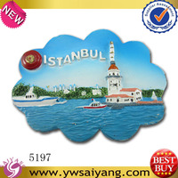 2014 hot sell New style Souvenir polyresin fridge magnet istanbul Famous Tourist souvenirs Promotional Gift wholesale